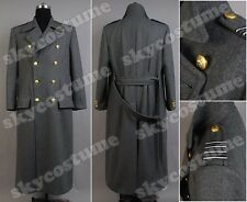 Torchwood Doctor Captain Jack Harkness Grey Wool Trench Coat *US size M,L,XL*
