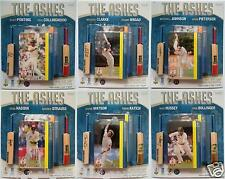 ACB ASHES Test Cricket Mini Bat & Player Card Collection 1-6 Australia V England