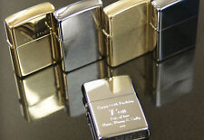 Personalised Zippo Lighters, free engraving, fast free delivery