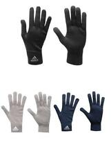 Mens Adidas Knitted Knit Black Grey Navy Gloves Sport Running Winter Acrylic NEW