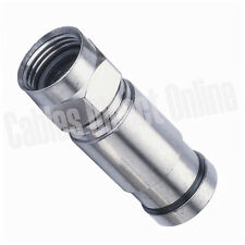 RG6 F CONNECTOR COAX COAXIAL COMPRESSION FITTING NICKEL PACK CABLE BOX LOT