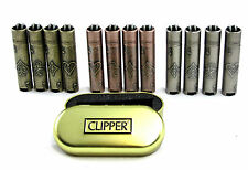 GENUINE METAL VINTAGE CLIPPER LIGHTER ACE OF SPADES/CLUBS/DIAMONDS/HEARTS
