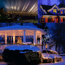 224 Led 8 Multi Function Outdoor Christmas Icicle Snowfall Lights 8 Functions UK