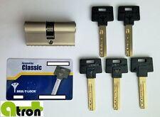 Mul-t-lock Classic High Security Cylinder, Certified grade 6,2! 5 keys + card