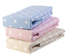 Luxury Thermal Flannelette 100% Brushed Cotton Fitted Bed Sheets Polka Dots