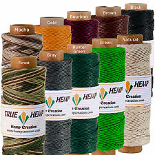 Natural Hemp Twine Cord - Pack10 TRUE HEMP spools -0.5mm 10lb - 310feet/ 95m ea