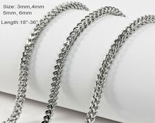 Stainless Steel Franco Chains Necklaces 20 inch to 36 inch Fast Ship From in USA