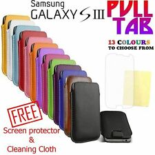 Soft PU Leather Pull Tab Mobile Cover Case Pouch For Samsung Galaxy S3 i9300