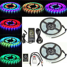 New Waterproof  5M 5050 300Led Strip Horse Race Dream Color RGB+Controller+Power