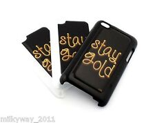 #168 for IPOD TOUCH 4 4TH GEN Case Cover STAY GOLD TRUE TO YOURSELF glitter love