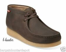 NEW Clarks Mens Stinson Hi Wallabee Type Brown Oily Leather  Casual Boot 63363