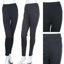Solid High Waist Skinny Tight Ponte Pants Casual Easy Wear Poly Rayon Span S M L