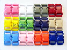 "100 3/8"" Curved Side Release Buckle for Paracord  12 Colors K29"
