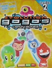 GOGOS CRAZY BONES  SERIES 2 EVOLUTION - YELLOW ORANGE  RED GREEN GLITTER FIGURES