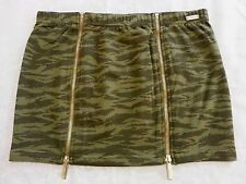 ECKO RED Camo Mini Skirt * 2 COLORS * Double Zipper Camouflage Army Military