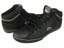 Lacoste Mens Camous EO Black Grey Croc Mid Lace-Up Casual Sneakers Shoes kicks