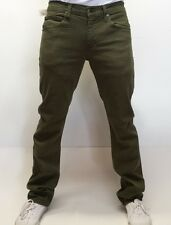SICKOUTFITS SLIM FIT Rustic Dime Jeans in Olive