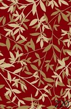 NEW BAMBOO RED FLORAL DESIGN RUBBER BACKED NON-SLIP RUNNER RUG CARPET