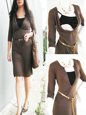 LAUREN Maternity Dress Breastfeeding Nursing Dresses MOCHA Maternity Clothing