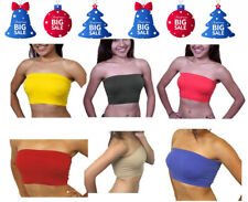 Women's Basic Stretch Bandeau Bra Tube Top One Size FREE SHIPPING  PRICE$3.99