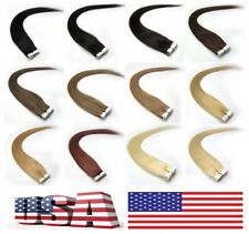 """16""""18""""20""""22"""" 20pcs Remy A/A+ Sticker Tape Human Hair Extensions More Colors"""