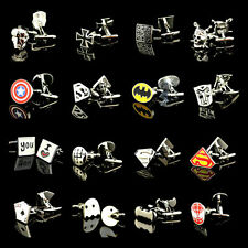 Man Flash Cuff Links of Batman Superman Spiderman Pirate Enamel Metrial Iron