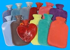 FASHY HOT WATER BOTTLE Blue/Clear/RED/CLOTH and much More! Free SHIPPING