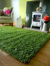 SMALL MEDIUM EXTRA LARGE LIME GREEN THICK HEAVY SOFT QUALITY SHAGGY PILE RUG MAT