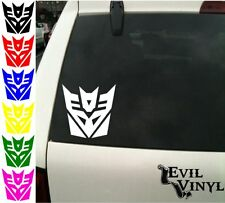 Transformers Decepticon Decal Car Window Autobot Prime Laptop Sticker ANY SIZE