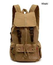Outdoor Casual Canvas Backpack Rucksack Military Shoulder School Hiking Bag New