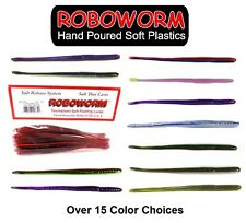 """ROBOWORM 6"""" STRAIGHT TAIL DROP SHOT TEXAS RIG WORM BASS FISHING SELECT COLOR"""