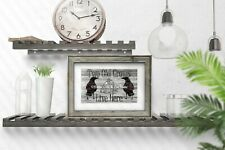 Two Old Crows Live Here Matted Sign Picture Photo Art Print A540