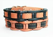 "Genuine Leather Collar for Small Dog Breeds 12""-15"" Beagle Poodle Dachshund"