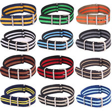 22mm 20mm 18mm Nato Army Multi Color Nylon Buckle Watch Strap Wristwatch Band