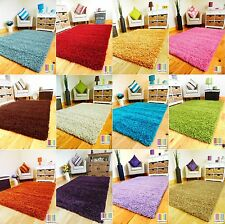 SMALL - EXTRA LARGE THICK 5cm PILE PLAIN MODERN HEAVY NON-SHED SOFT SHAGGY RUG