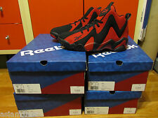 Reebok Kamikaze II Mid Black Red  Retro Shawn Kemp V44405 Sold Out Rare 8-12