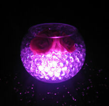 Beautiful Glowing Party Decorations - LED Light with Aqua Vase Crystals