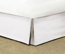 WHITE SOLID TAILORED BED SKIRT 1000 TC 100% COTTON CHOOSE DROP LENGTH AND SIZE