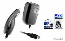 New Micro USB Battery Car Charger+Wall Home Travel Charger Combo for Cell Phones
