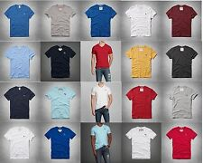 NWT ABERCROMBIE & FITCH V NECK MEN'S TEE S,M,L,XL