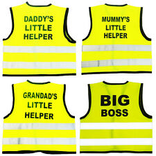 Kids Little Helper Yellow Hi-Viz / Vis Visibility Safety Vest / jacket 0-9yr