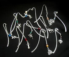 Tibetan Silver Bookmark With Charm - Lots to Choose - Horror, Romance, Vampire