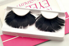 1Pair Costume Feather Exaggerated Dramatic Party Fake False Eyelashes Eye lashes
