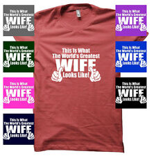 WORLD'S GREATEST WIFE FUNNY VALENTINE'S DAY JUNIORS BABYDOLL T-SHIRT