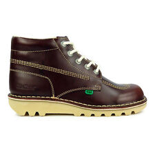 Mens Kickers Boots Kick Hi Leather Dark Red Boots