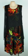 NWT - NEW COVER dressy/wedding FUNKY Red-Print MESH DRESS Size10 & 12 Plus Size