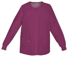 Scrubs Dickies EDS Snap Front Warm-Up Jacket 86306 Wine WIWZ  FREE SHIPPING!