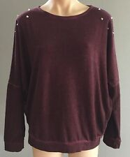NWT Burgundy FACTORIE  Sweater / Top Long sleeves Sizes S, M & L RRP$29.95