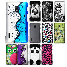 For LG Optimus F7 US780 Cover Phone Design Rubberized HARD Snap On Case