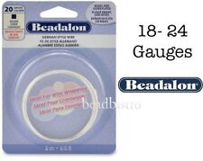 Beadalon 316L Stainless Steel Wire (18 - 24 Gauges) Square Wire